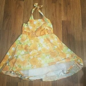 Other - Girls orange flower halter dress